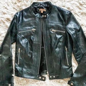 Arden B Black leather moto jacket. Like New!